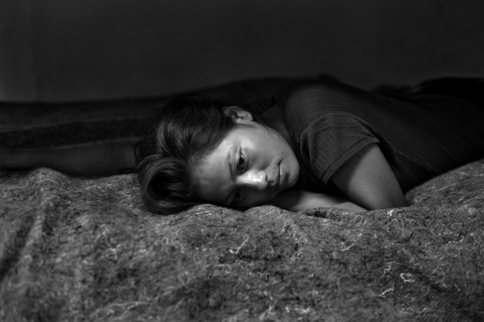 Marisol Espinoza, a 20-year-old woman from Chiapas, Mexico, in a shelter for deportees and migrants the night after she was deported from the United States. She walked through the Arizona desert for 6-days until she was arrested by the U.S. Border Patrol.