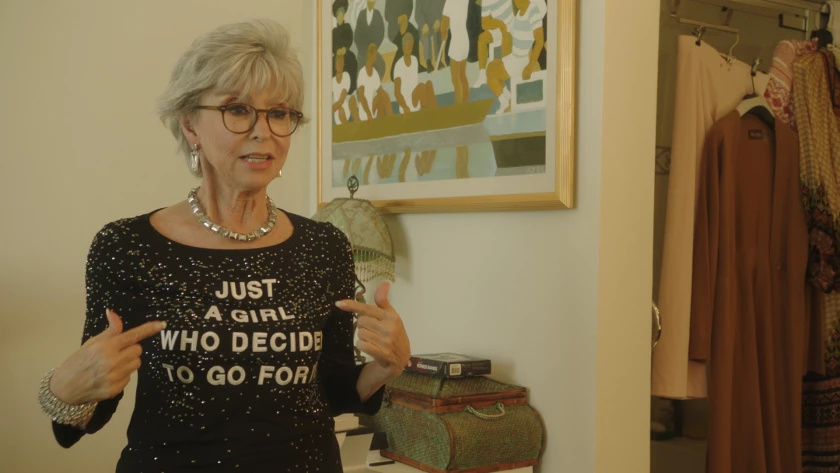 """Still of Rita Moreno in the documentary """"Rita Moreno: Just a Girl Who Decided to Go for It."""""""