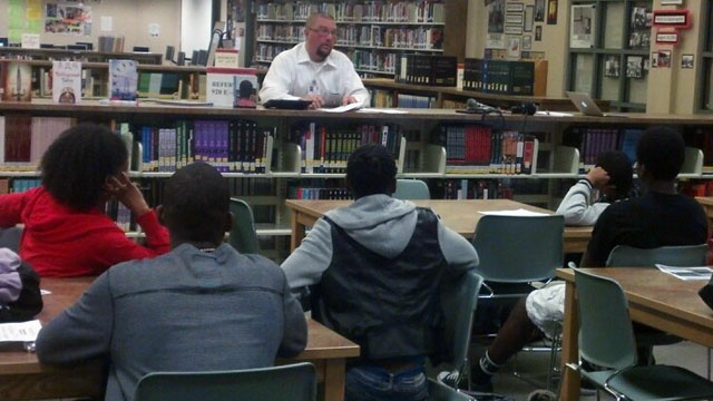 Mike Jones teaches a Monterey Trail High School foster youth class.
