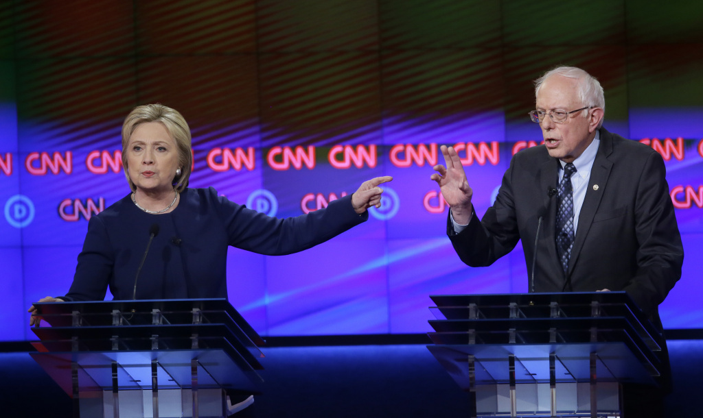 Hillary Clinton, Bernie Sanders ratchet up rancor in Democratic debate