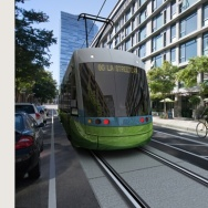 Image depicting a proposed streetcar to run in downtown L.A.