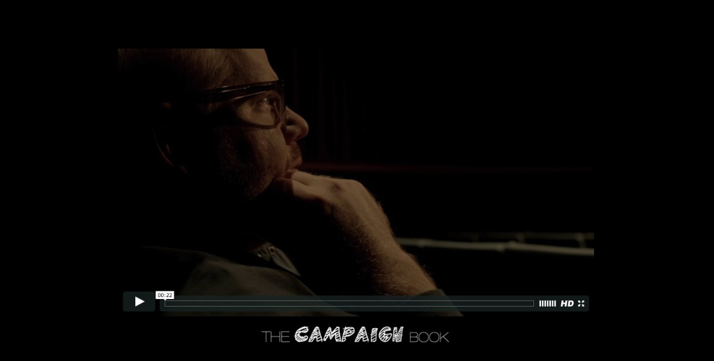 A screenshot from HowardCantour.com before the trailer for the film was deleted.