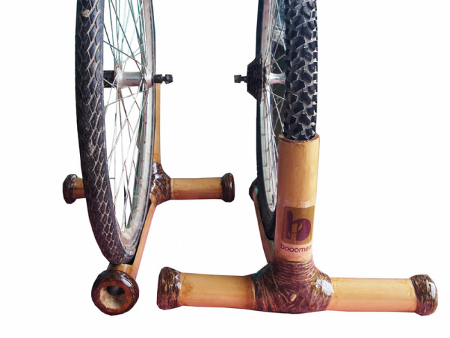 Photo: Bamboo bike stand