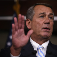 John Boehner Holds Media Briefing At US Capitol
