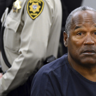 O.J. Simpson during a break in a court hearing in Las Vegas in 2013. Simpson is up for parole after more than eight years in prison on charges stemming from a bid to retrieve sports memorabilia.