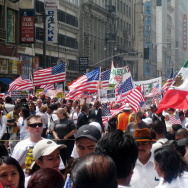 immigration los angeles downtown la dtla protest rally