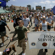 Active Duty Military Members March In San Diego's Gay Pride Parade