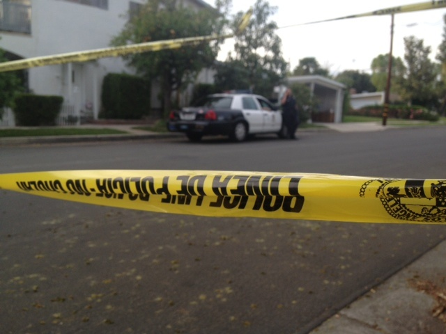 LAPD crime tape blocks public access during a recent investigation.