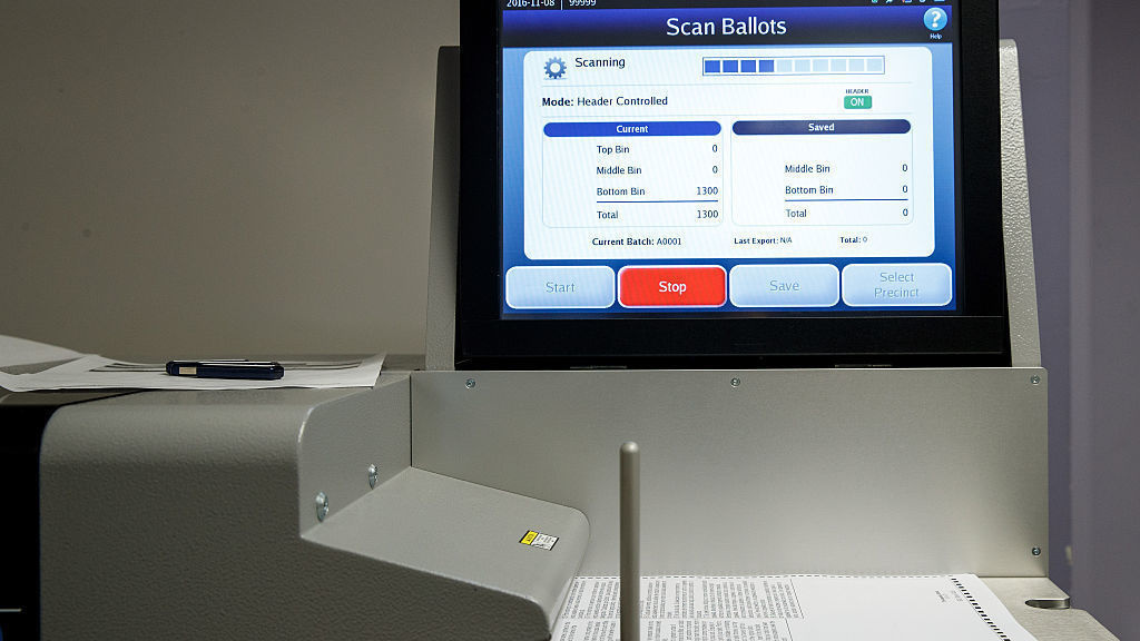 A ballot scanner in New York City ahead of last November's election.