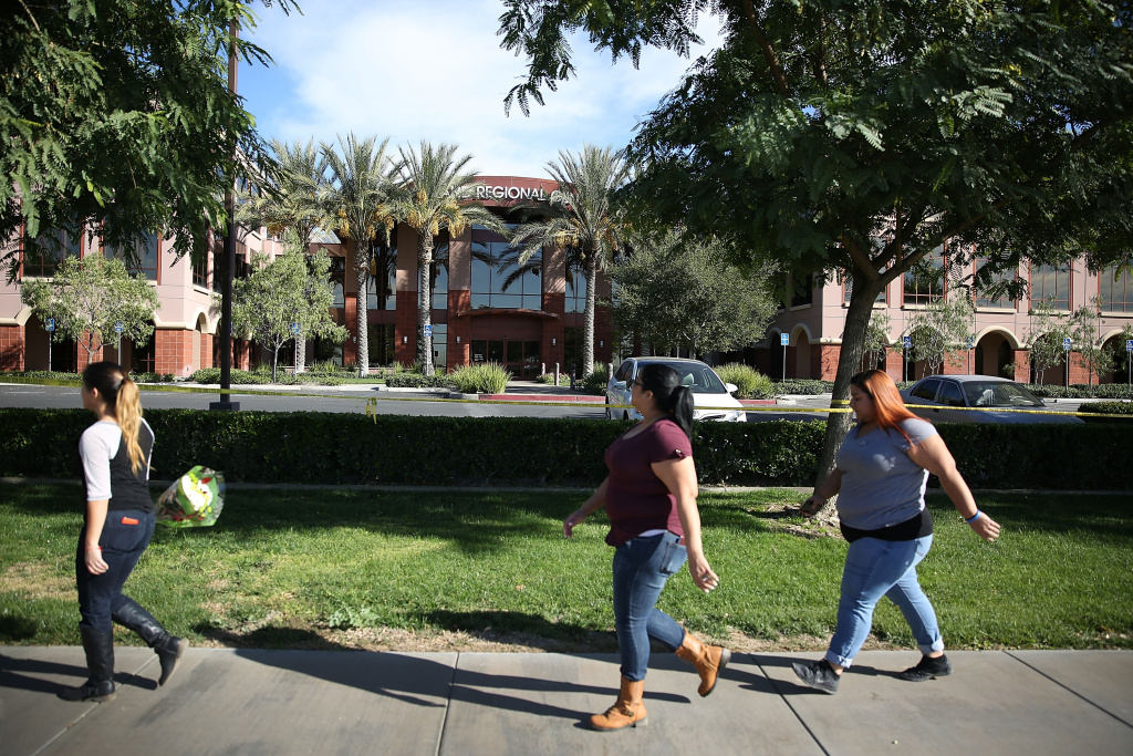 The Inland Regional Center in San Bernardino, Calif where 14 people died after a mass shooting on Dec. 2, 2015. Officials say about 600 workers will return to work at the center on Jan. 4.