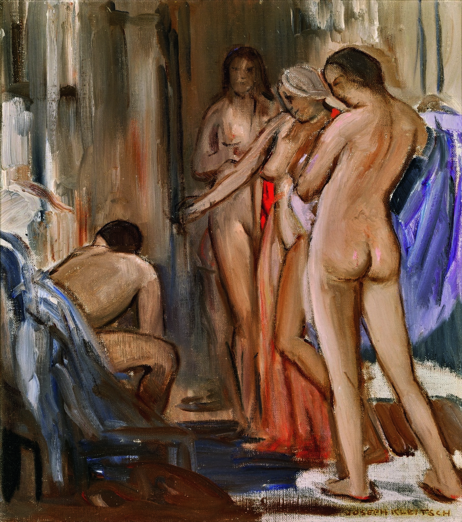 Joseph Kleitsch, Nudes, c. 1929–30. Oil on canvas, 20 ½ x 18 inches. Collection of Linda and  David O'Hoy