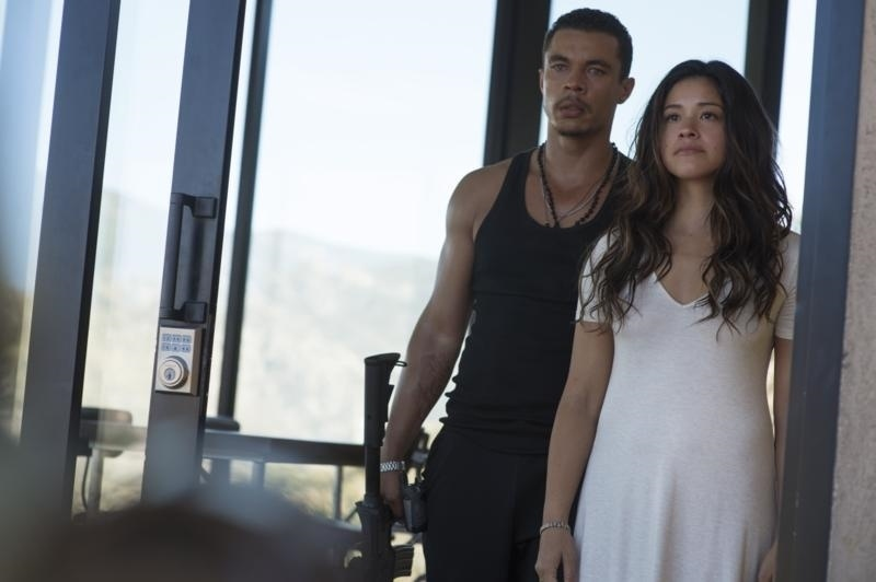 Gina Rodriguez and Ismael Cruz Cordova in Columbia Pictures' Miss Bala