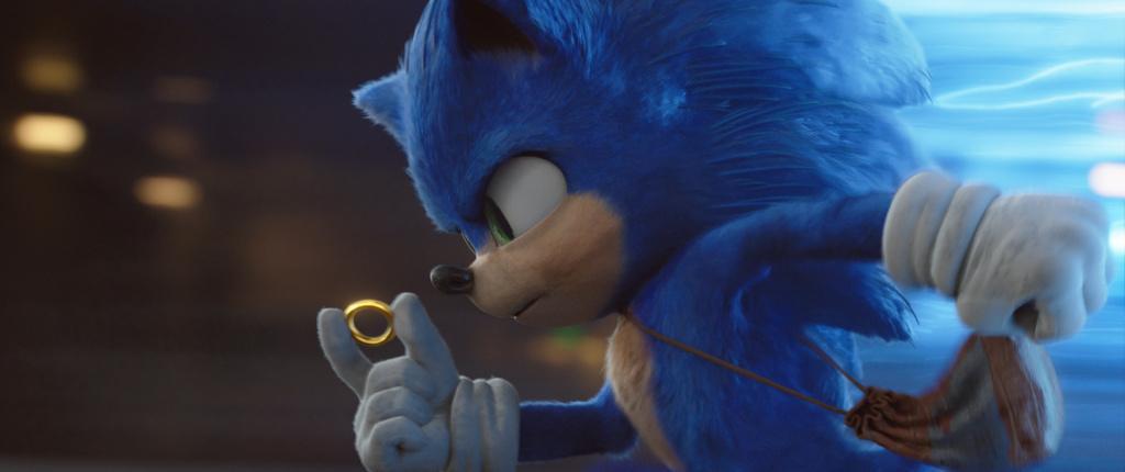 Sonic (played by Ben Schwartz) in
