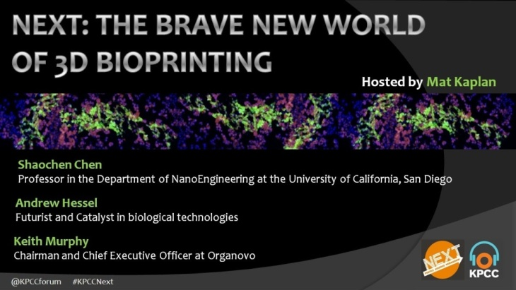 NEXT: The Brave New World of 3D Bioprinting