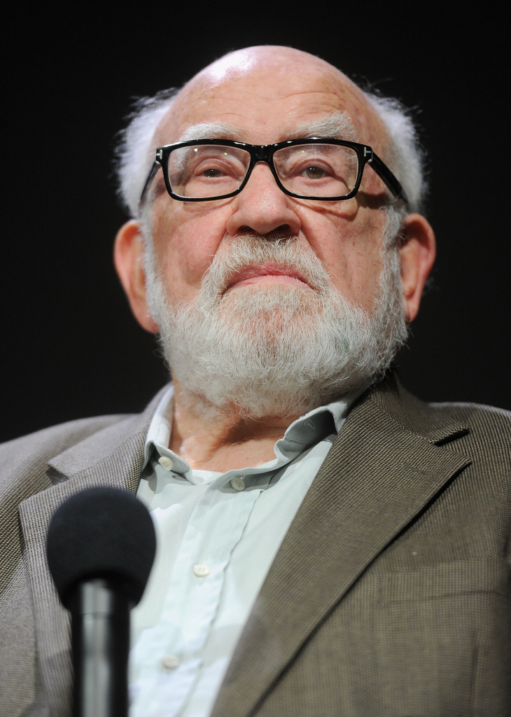 "Ed Asner attends Meet The Cast of Broadway's ""Grace"" at the Apple Store Soho on October 8, 2012 in New York City."
