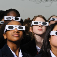 Proper eye protection is a must for anyone looking up at a solar eclipse; eclipse glasses are far darker than regular sunglasses.