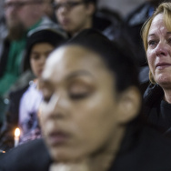 Prayer and songs open a vigil at San Manuel Stadium in San Bernardino on Thursday night, Dec. 3, 2015 following a mass shooting that left 14 people dead and 21 injured on Wednesday at the Inland Regional Center.