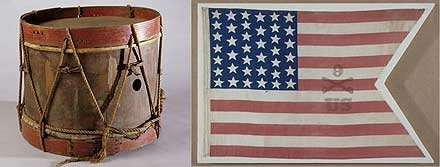 Military Drum and Parade Flag