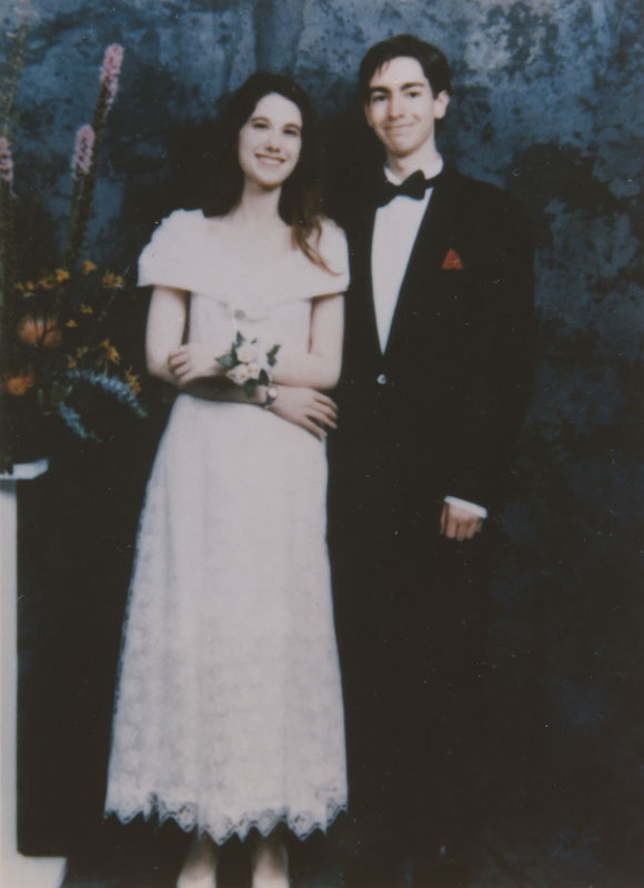 University High School students Corin Choppin and his date at their prom, c1994
