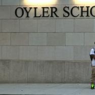 Students in front of Oyler School
