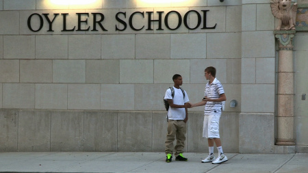 Students in front of Oyler School