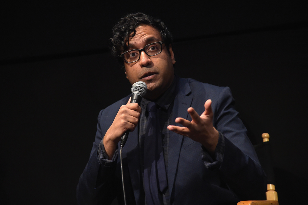 Comedian Hari Kondabolu speaks onstage at a screening of