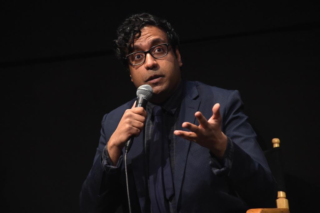 Comedian Hari Kondabolu speaks onstage at a screening of