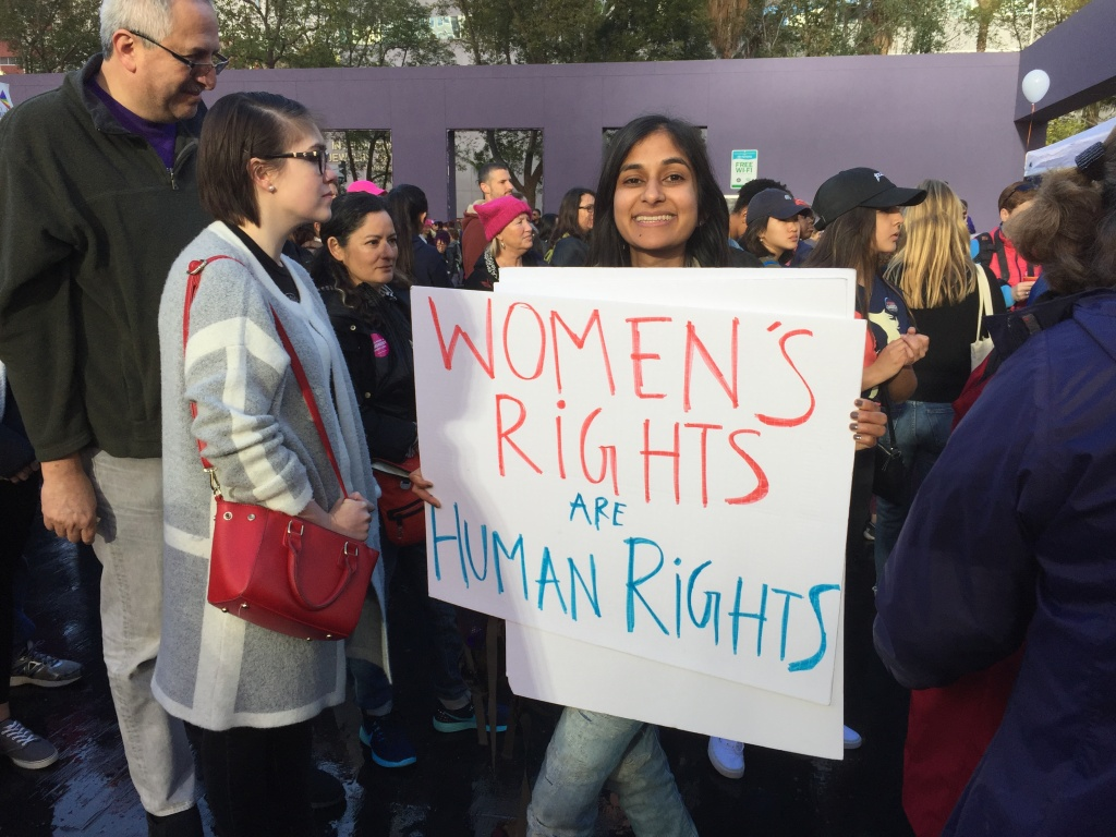 Aneesa Andradi attended the Women's March of Los Angeles on Saturday, Jan. 21.