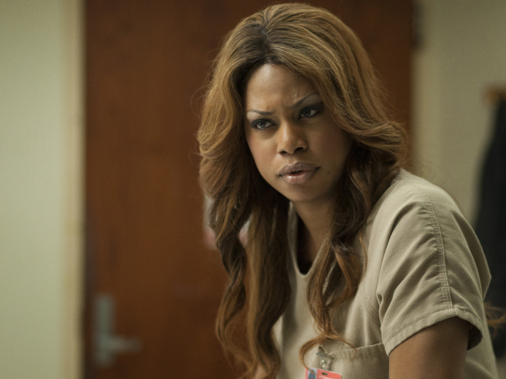 Laverne Cox plays Sophia on Netflix's Orange Is The New Black, one of several current shows exploring the lives of transgender characters.