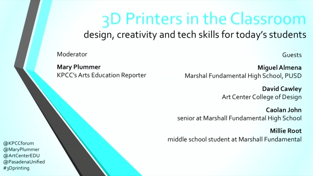 3D Printers in the Classroom