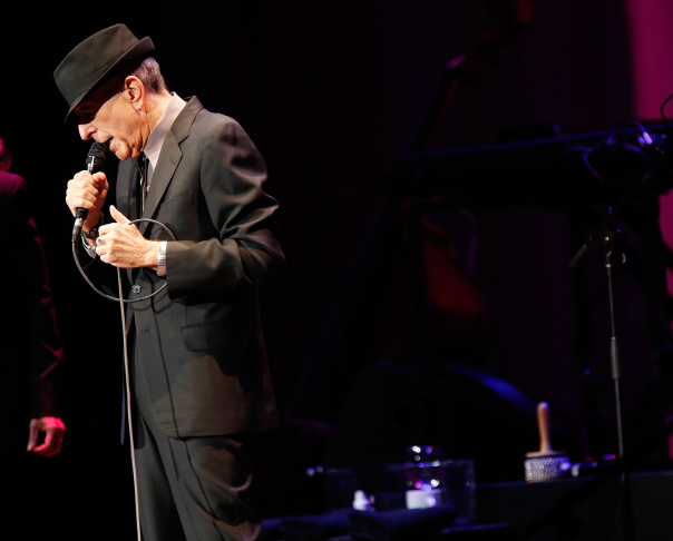 File: Singer/musician Leonard Cohen performs at Radio City Music Hall on April 6, 2013 in New York City.