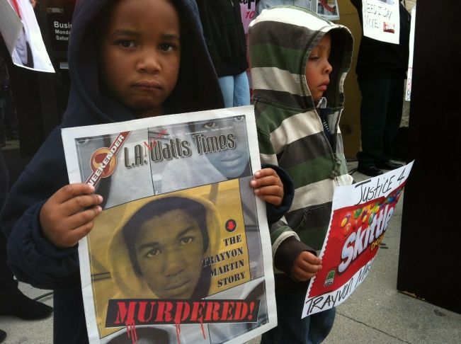 Children at a rally in support of Trayvon Martin, Tuesday, March 27, 2012.