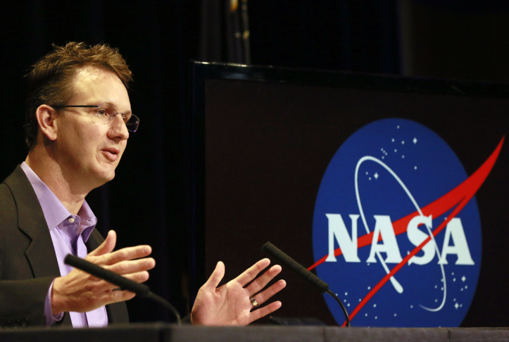 Robert Mase, project manager for the Dawn mission at Nasa's Jet Propulsion Laboratory, speaks at news conference at JPL in Pasadena on Monday. NASA's Dawn spacecraft is scheduled to slip into  orbit around the dwarf planet Ceres on Friday, the last stop in a nearly eight-year journey.