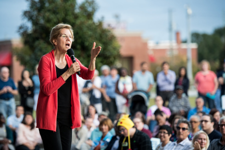 Presidential Candidate Elizabeth Warren Holds A Town Hall In South Carolina