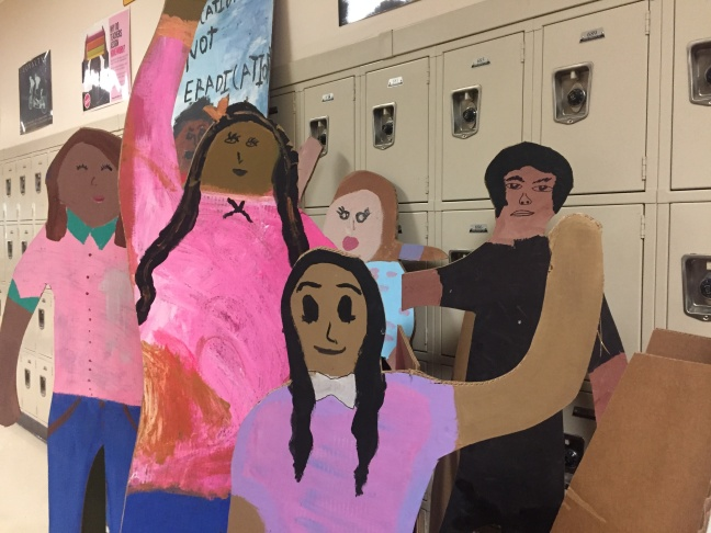 The cardboard cutouts will be on display at LAUSD's Eastside Arts Festival.