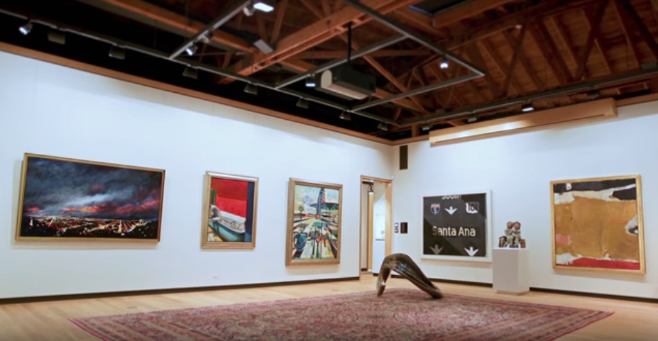 Gerald Buck's donated art collection will be exhibited along with other art in a new museum to be built on the campus about 40 miles south of Los Angeles, UC Irvine officials said.