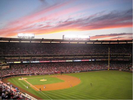 Angel stadium in Anaheim.