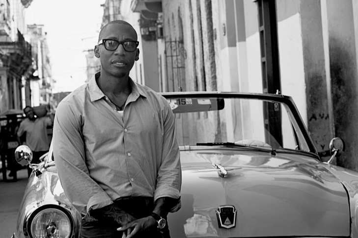 Musician and producer Raphael Saadiq in Cuba.