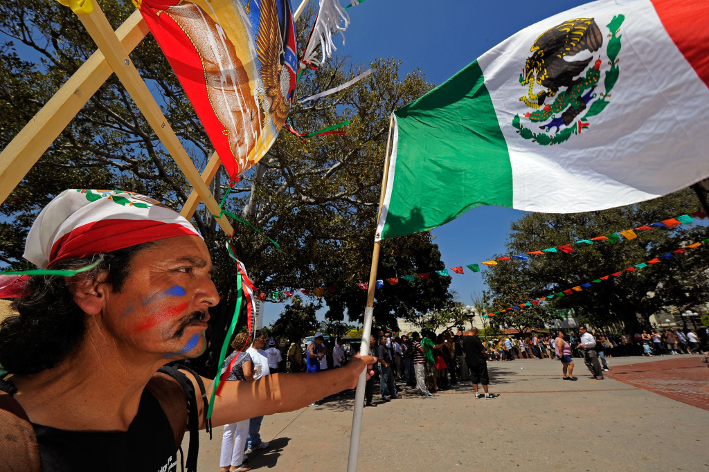 Jose Gregorio Perez attends Cinco de Mayo festivities on May 5, 2010, at El Pueblo de Los Angeles Historic Site on Olvera Street in downtown Los Angeles, California.