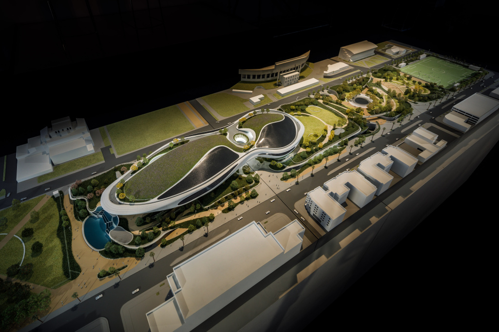 The model of the Lucas Museum