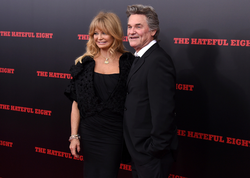 Actress Goldie Hawn (L) and Actor Kurt Russell attend the New York premiere of