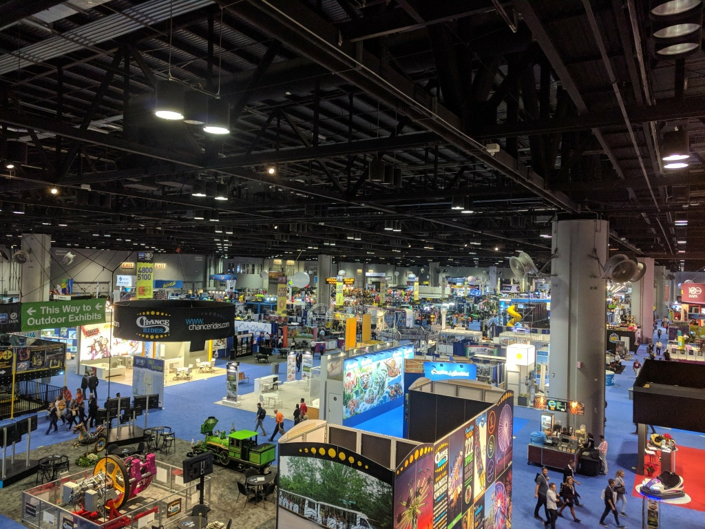 The show floor of the IAAPA Attractions Expo in Orlando