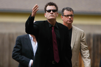 Charlie Sheen arrives at the Pitkin County Courthhose on August 2, 2010 in Aspen, Colorado.