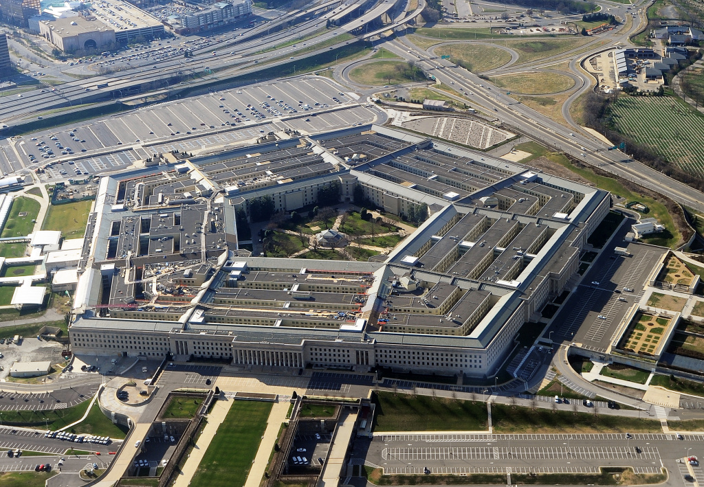 The Pentagon building in Washington, DC. Approximately 23,000 military and civilian employees and about 3,000 non-defense support personnel work in the Pentagon.