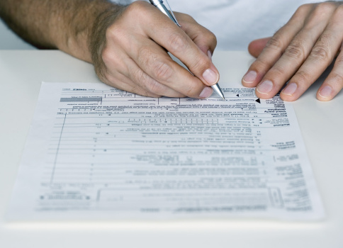 Taxes Tax Form Income Stock Photo