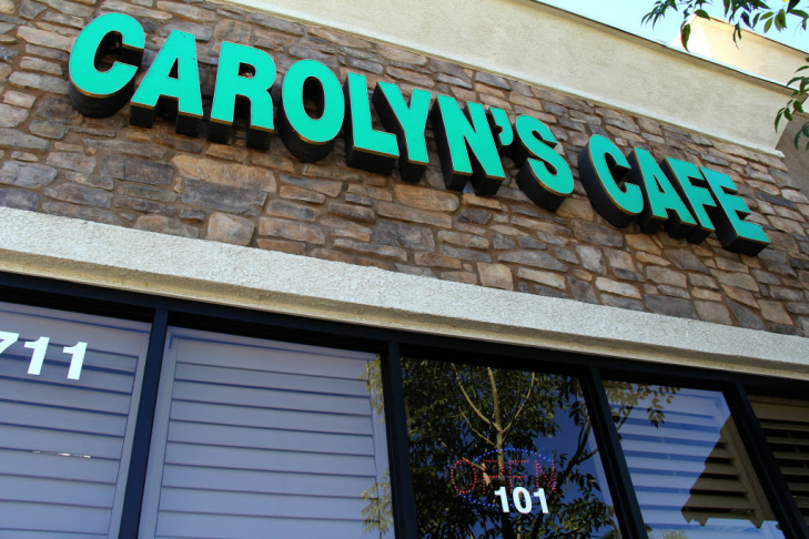 The interior of Carol's Cafe in Redlands, California.