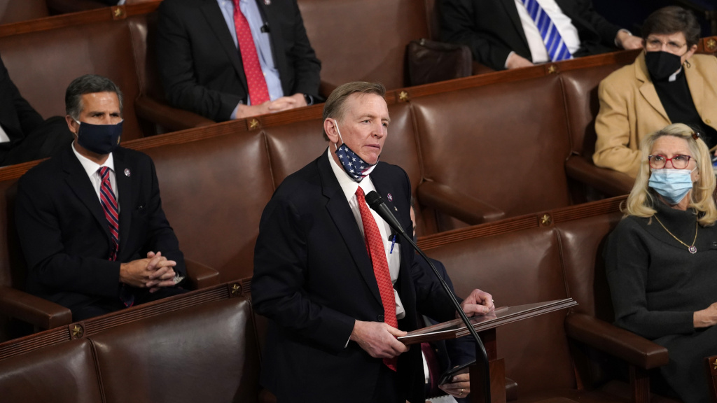 Rep. Paul Gosar, R-Ariz., objected to his state's electoral tally.
