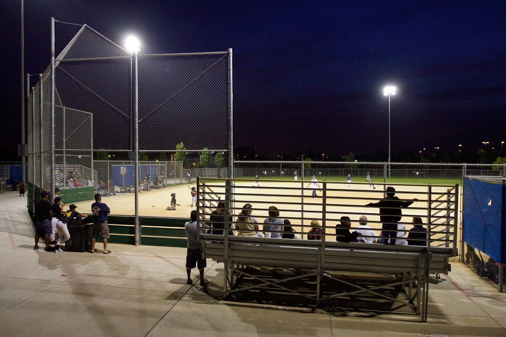 A Little League baseball game in California.