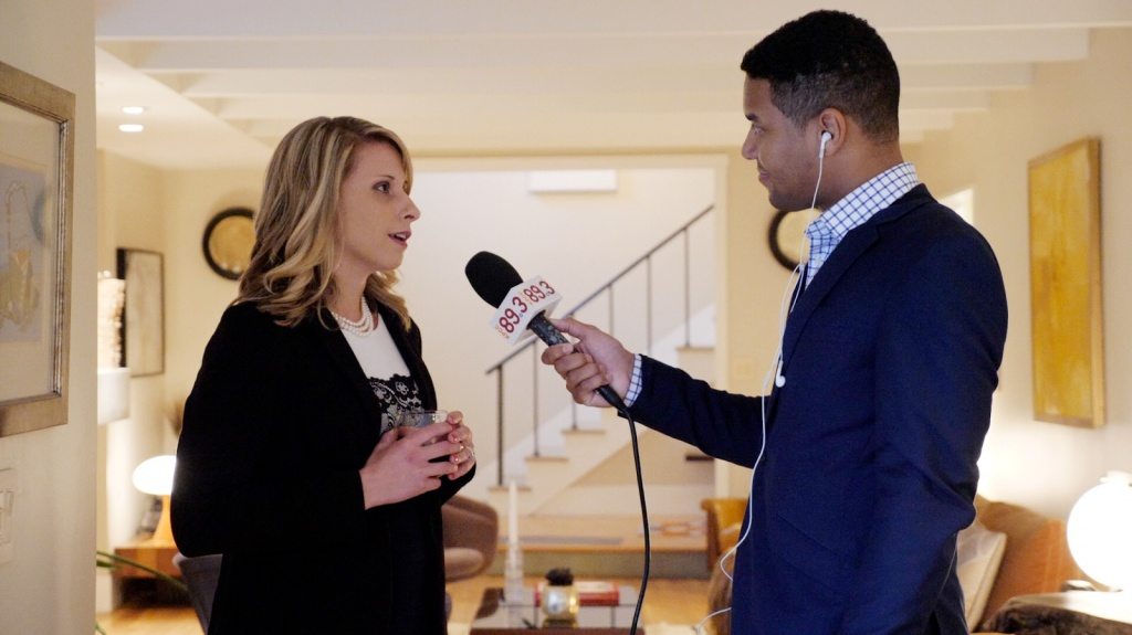 KPCC's Austin Cross talks to Congressional candidate Katie Hill.
