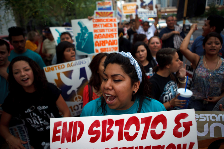 Activists Protest Arizona's Controversial Immigration Law In Phoenix